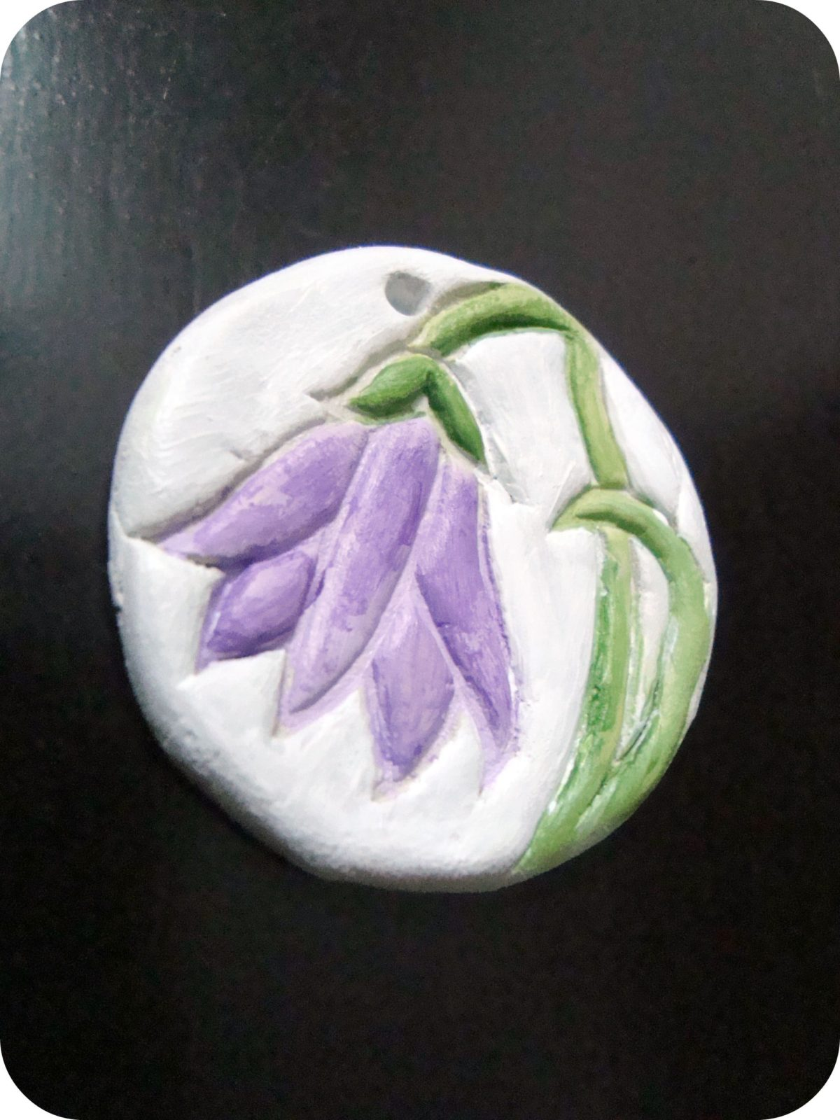 Indian Lily- A handmade pendant